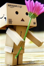 Preview iPhone wallpaper Danbo, pink flower