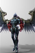 Preview iPhone wallpaper Demon, wings, armor
