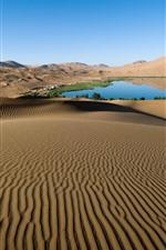 Preview iPhone wallpaper Desert, lake, oasis