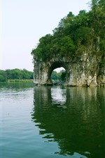 Preview iPhone wallpaper Elephant Trunk Hill, river, Guilin, Guangxi, China