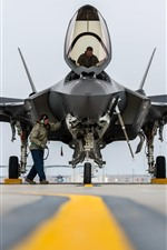 Preview iPhone wallpaper F-35A Lightning II fighter