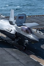 Preview iPhone wallpaper F-35B Lightning II fighter, deck