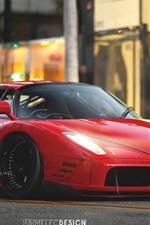 Preview iPhone wallpaper Ferrari Enzo red supercar