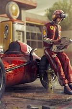Preview iPhone wallpaper Ferrari F1 racing car, retro, driver