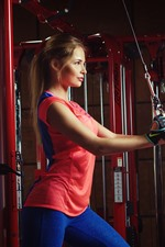 Preview iPhone wallpaper Fitness girl, gym, sport