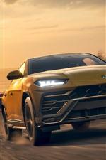 Preview iPhone wallpaper Forza Horizon 4, Lamborghini Urus SUV car front view