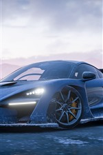 Forza Horizon 4, vista frontal del supercoche de McLaren