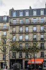 iPhone fondos de pantalla Francia, París, edificios, ventanas, árboles, calle