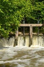 미리보기 iPhone 배경 화면 프랑스, 개울, 물, 나무