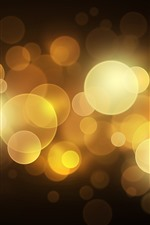 Preview iPhone wallpaper Golden light circles, bright, glare