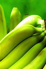 Preview iPhone wallpaper Green bananas, unripe