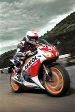 Preview iPhone wallpaper Honda CBR1000RR motorcycle, speed, race