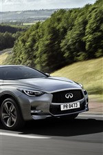 Preview iPhone wallpaper Infiniti Q30 silver car speed