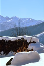 Preview iPhone wallpaper Italy, Piedmont, snow, winter, mountains