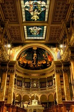 Preview iPhone wallpaper Italy, Rome, Church, interior