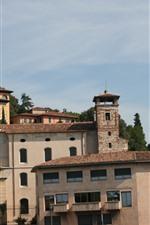 Italia, verona, edificios, arboles, ciudad