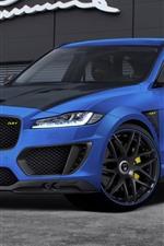 Preview iPhone wallpaper Jaguar F-Pace CLR F blue car