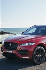 Jaguar F-Pace coche rojo SUV