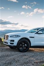 Jaguar F-Pace blanco SUV vista lateral del coche