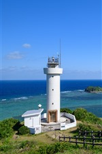Preview iPhone wallpaper Japan, lighthouse, sea, coast