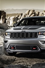 Preview iPhone wallpaper Jeep Grand Cherokee SUV car front view