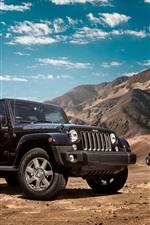 iPhone fondos de pantalla Jeep Wrangler coches negros y rojos