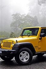 Jeep Wrangler yellow car