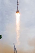 Preview iPhone wallpaper Kazakhstan, Baikonur, rocket launches