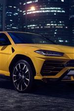 미리보기 iPhone 배경 화면 람보르기니 2018 노란색 SUV 차량