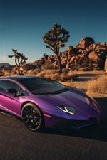 Preview iPhone wallpaper Lamborghini purple supercar
