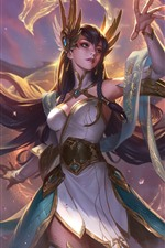 Preview iPhone wallpaper League of Legends, beautiful girl, hand, sword