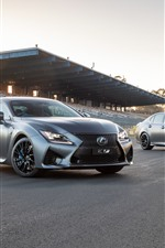 Preview iPhone wallpaper Lexus RC and GS silver cars