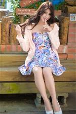 Lovely Taiwan girl, skirt, summer