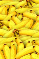 Preview iPhone wallpaper Many bananas, fruit