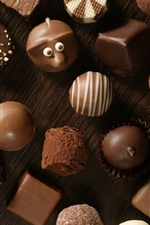 Preview iPhone wallpaper Many kinds of chocolate candy, sweet food