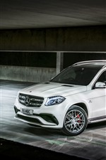 Preview iPhone wallpaper Mercedes-Benz AMG X166 white SUV car