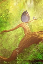 Preview iPhone wallpaper My Neighbor Totoro, Hayao Miyazaki, classic anime