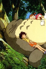 Preview iPhone wallpaper My Neighbor Totoro, Hayao Miyazaki, happy childhood