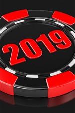 Новый год 2019, черный и красный