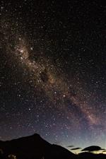 iPhone壁紙のプレビュー 夜、星空、空