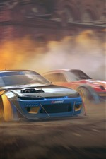 Preview iPhone wallpaper Nissan Silvia S15 and Porsche 911, cars, speed, dust