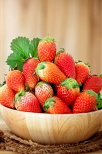 Preview iPhone wallpaper One bowl of strawberry, juicy fruit