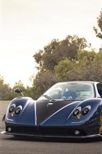 Pagani supercar front view