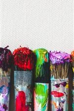 Pinceles para pintar, coloridos