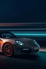 Porsche 911 Carrera 4S prata supercarro velocidade