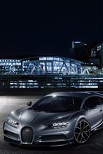 iPhone fondos de pantalla Supercar de Porsche y Bugatti en la noche de la ciudad