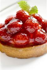 Preview iPhone wallpaper Raspberry, jam, cake, lemon slice, dessert