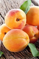 Preview iPhone wallpaper Ripe fruit, apricots