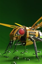 Preview iPhone wallpaper Robot bee, 3D picture