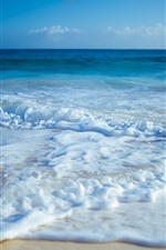 Preview iPhone wallpaper Sea, foam, beach, coast